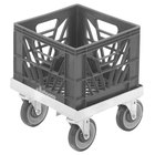 Channel MC1313 13 inch x 13 inch Milk Crate Dolly - 1 Stack Capacity