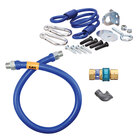 36 inch Dormont 16100BPQR Safety System Gas Connector Kit with SnapFast Quick Disconnect and Restraining Device - 1 inch Diameter