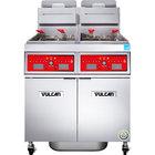 Vulcan 2TR65CF-2 PowerFry3 Liquid Propane 130-140 lb. 2 Unit Floor Fryer System with Computer Controls and KleenScreen Filtration - 160,000 BTU