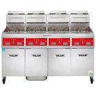 Vulcan 4TR45CF-2 PowerFry3 Liquid Propane 180-200 lb. 4 Unit Floor Fryer System with Computer Controls and KleenScreen Filtration - 280,000 BTU