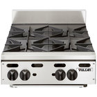 Vulcan VHP424 Natural Gas 24 inch 4 Burner Countertop Range - 120,000 BTU