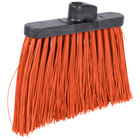 Carlisle 3686824 Duo-Sweep 12 inch Heavy Duty Angled Broom Head with Orange Unflagged Bristles