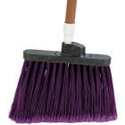 Carlisle 3686768 Duo-Sweep Medium Duty Angled Broom Head with Flagged Purple Bristles - 12/Case