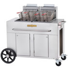 Crown Verity PF-2LP 70 - 80 lb. Double Tank Portable Outdoor Fryer - Liquid Propane