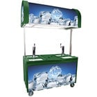 IRP 2060 IDC Green Ice Down Mobile Draft Cart with Illuminated Canopy - (2) 1/2 Keg