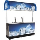 Blue RDC-4 Refrigerated Mobile Draft Cart with Illuminated Canopy - (4) 1/2 Keg