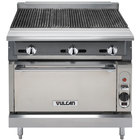Vulcan VCBB36S-NAT V Series Natural Gas 36 inch Radiant Gas Floor Model Charbroiler with Standard Oven Base - 149,000 BTU