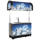 IRP RDC-2 Black Refrigerated Mobile Draft Cart with Illuminated Canopy - (2) 1/2 Keg