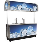 IRP RDC-4 Gray Refrigerated Mobile Draft Cart with Illuminated Canopy - (4) 1/2 Keg