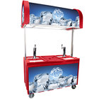 IRP 2060 IDC Red Ice Down Mobile Draft Cart with Illuminated Canopy - (2) 1/2 Keg