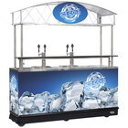 IRP MFC-K89 Ice Down Coil Mobile Draft Cart with Canopy - (4) 1/2 Keg