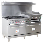 Cooking Performance Group S60-GS24-N Natural Gas 6 Burner 60
