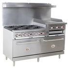 Cooking Performance Group S60-GS24-L Liquid Propane 6 Burner 60