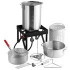 Backyard Pro BP30-ALKIT 30 Qt. Deluxe Aluminum Turkey Fryer Kit / Steamer Kit - 55,000 BTU