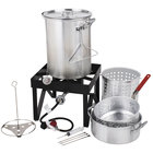 Backyard Pro 30 Qt. Deluxe Aluminum Turkey Fryer Kit / Steamer Kit - 55,000 BTU