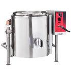 Vulcan K40GLT-LP Liquid Propane 40 Gallon Tilting 2/3 Steam Jacketed Kettle - 100,000 BTU