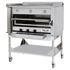 Vulcan VST3B-NAT Natural Gas Chophouse Ceramic Broiler with Griddle Top and Stand - 100,500 BTU