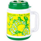 64 oz. The Tanker Plastic Lemonade Mug with Spout / Straw and Lid - 12/Case