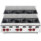 Wolf AHP636U-NAT Achiever Natural Gas 36 inch 6 Burner Step Up Countertop Range - 180,000 BTU