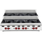 Wolf AHP848U-LP Achiever Liquid Propane 48 inch 8 Burner Step Up Countertop Range - 220,000 BTU