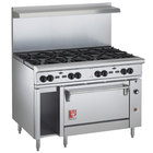 Wolf C48S-8BN Challenger XL Series Natural Gas 48 inch Range with 8 Burners and Standard Oven - 275,000 BTU