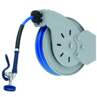 T&S B-7133-01 Stainless Steel Open Hose Reel with 1/2 inch x 35' Hose and High Flow Spray Valve