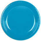 Creative Converting 28313131 10 inch Turquoise Plastic Banquet Plate - 240 / Case