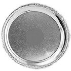 Tabletop Classics TR-11233 14 inch Round Stainless Steel Tray with Gadroon Border and Embossed Center