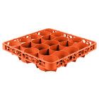 Carlisle REW20LC24 OptiClean NeWave 20 Compartment Orange Color-Coded Long Glass Rack Extender