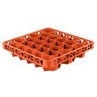 Carlisle REW30LC24 OptiClean NeWave 30 Compartment Orange Color-Coded Long Glass Rack Extender