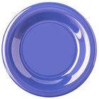 Carlisle 4301814 Durus 6 1/2 inch Ocean Blue Wide Rim Melamine Plate - 48/Case