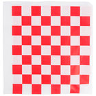 Choice 9 inch x 10 inch Red Check Wire Cone Basket Liner / Deli Wrap / Double Open Bag - 250/Pack