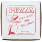 16 inch x 16 inch x 2 inch Clay Coated Pizza Box - 100 / Bundle