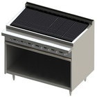 Blodgett BR-48B-NAT Cafe Series Natural Gas 48 inch Radiant Charbroiler with Cabinet Base - 132,000 BTU