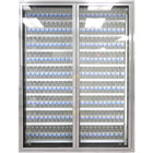Styleline CL2672-HH 20//20 Plus 26 inch x 72 inch Walk-In Cooler Merchandiser Doors with Shelving - Anodized Satin Silver, Right Hinge - 2/Set