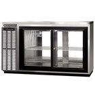 Continental Refrigerator BBUC59S-SS-SGD-PT 59 inch Stainless Steel Glass Door Shallow Depth Pass-Through Undercounter Back Bar Refrigerator