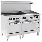 Vulcan 60SC-6B24GN Endurance Natural Gas 6 Burner 60 inch Range with 24 inch Manual Griddle, 1 Standard, and 1 Convection Oven - 278,000 BTU