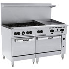 Vulcan 60SC-6B24GP Endurance Liquid Propane 6 Burner 60 inch Range with 24 inch Manual Griddle, 1 Standard, and 1 Convection Oven - 278,000 BTU