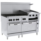 Vulcan 60SC-6B24GBN Endurance Natural Gas 6 Burner 60 inch Range with 24 inch Griddle/Broiler, 1 Standard, and 1 Convection Oven - 268,000 BTU