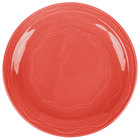 Syracuse China 903034009 Cantina 6 1/4 inch Cayenne Carved Porcelain Round Plate - 12/Case