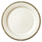 Syracuse China 911191025 Baroque 11 3/8 inch Bone China Dinner Plate - 12/Case