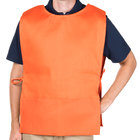 29 inch x 17 1/2 inch Orange Poly-Cotton Cobbler Apron with Two Pockets