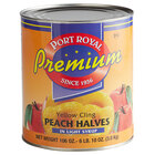 #10 Can Peach Halves in Light Syrup - 6/Case