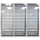 Styleline ML3075-HH MOD//Line 30 inch x 75 inch Modular High Humidity Walk-In Cooler Merchandiser Doors with Shelving - Bright Silver Smooth, Left Hinge - 3/Set