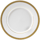 10 Strawberry Street PAR-1G Paradise 10 3/4 inch Gold Porcelain Dinner Plate - 24/Case