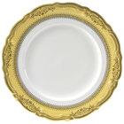 10 Strawberry Street VAN-4G Vanessa 8 inch Gold Salad / Dessert Plate - 24/Case