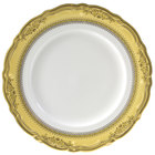 10 Strawberry Street VAN-1G Vanessa 10 3/4 inch Gold Dinner Plate - 24/Case