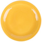 Syracuse China 903033003 Cantina 7 1/4 inch Saffron Carved Round Porcelain Plate - 12/Case