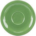 Syracuse China 903035201 Cantina 6 1/4 inch Sage Carved Porcelain Saucer - 12/Case