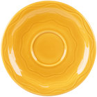 Syracuse China 903033201 Cantina 6 1/4 inch Saffron Carved Porcelain Saucer - 12/Case
